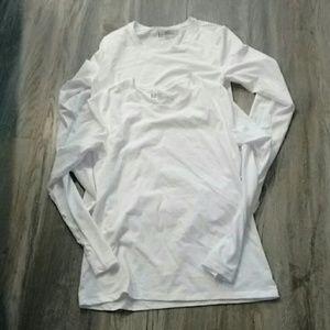 Felina white layering shirts sz m
